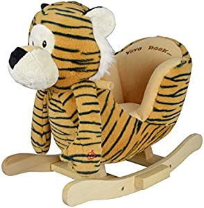 Moderno Kids 2020 Soft Baby Rocking Horse, Ride On Tiger, Ride on Toy for Kids Ages 1 to 3 Years Old Plush Animal Rocker, Toddler/Child Stuffed Ride Toy