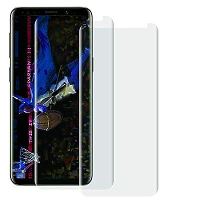 Galaxy S9 Clear Screen Protector -[Case Friendly] Tempered Glass Screen Protector for Galaxy S9 [2 Pack] Beige-border