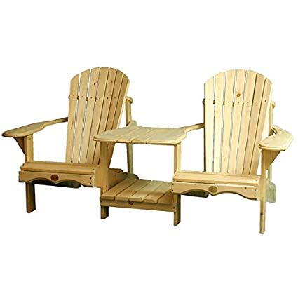 Genial Amazon.com : Rustic Natural Cedar Furniture 0400900P Pine Tete Furniture,  Natural : Adirondack Chairs : Garden U0026 Outdoor