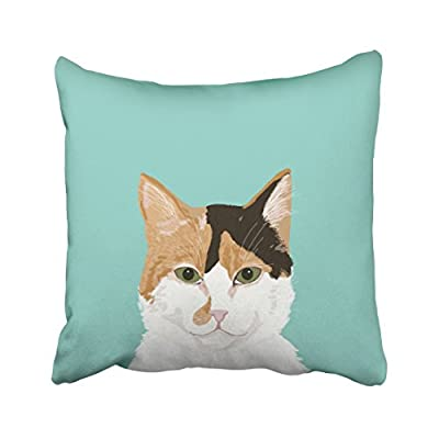 Pakaku Throw Pillows Covers for Couch/Bed 20 x 20 inch,Calico Cat Customizable Cat Gifts Home Decor Pet Home Sofa Cushion Cover Pillowcase Gift Decorative Hidden Zipper Design Cotton and Polyester - Size: 20 x 20 inch, 50cm x 50cm Hidden zipper closure.Double-sided pattern Cushion Cover ONLY, Insert SOLD SEPARATELY. - patio, outdoor-throw-pillows, outdoor-decor - 41mm3wSUOmL. SS400  -