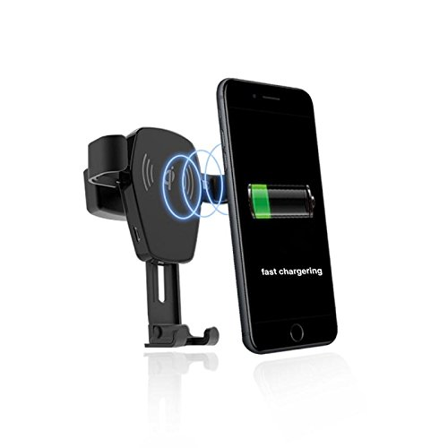WingTech Qi Wireless Charger Fast Wireless Charging Car Mount for Samsung Galaxy S8/S8+/S7/S7 Edge/S6 Edge+/Note 5/ Nexus 7(2nd Gen)/5/6 and Others (Gen Car Charger)