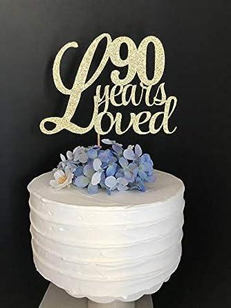Decoración para tarta de 90 años de edad, decoración para 90 ...