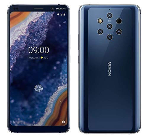 Nokia 9 PureView 128GB GSM Unlocked Android 9.0 Pie Smartphone, 5.99