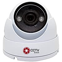 Dome Security Camera 720P 4 in 1 TVI/CVI/CVBS, Toggle Switch, Waterproof IR Camera 2 Array LED IR Range 20M Board Lens, 2.8mm 3 Axis Brackets, Hidden Cable Design Water Resistance IP66