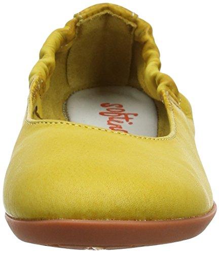 Mujer Con Para amarillo Amarillo Punta Ona380sof Washed Cerrada Bailarinas Softinos StaUq0x