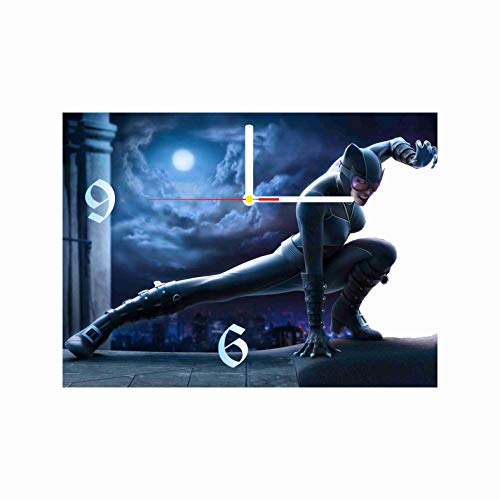 Original Handmade Wall Clock Catwoman 11.8 Get Unique décor for Home or Office – Best Gift Ideas for Kids, Friends, Parents and Your Soul Mates ()