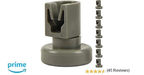 McFilter - Ruedas para cesta superior de lavavajillas (8 unidades ...
