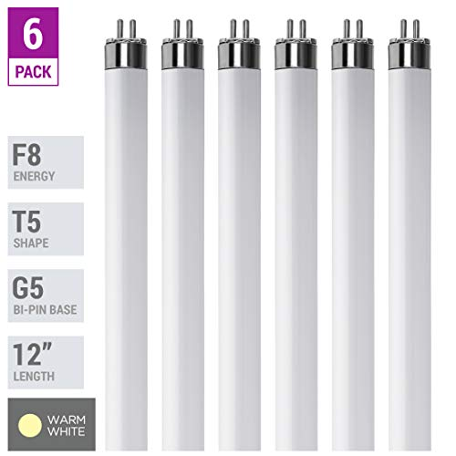 (Pack Of 6) F8T5/WW - T5 Fluorescent 3000K Warm White - 8 Watt - 12