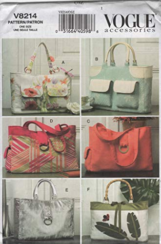 Vogue 8214 Handbags Sewing Pattern Craft