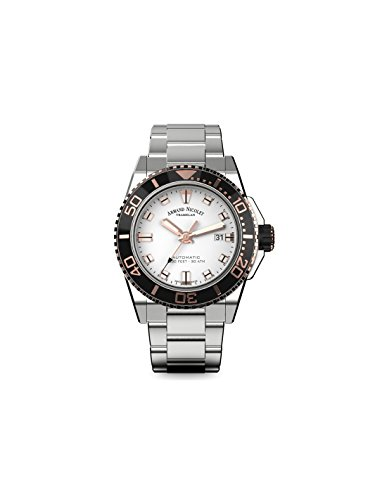 Armand Nicolet Men's Diver Automatic Watch with Stainless Steel Bracelet A480AGN-NR-MA4480AA