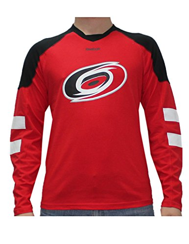 fan products of NHL CAROLINA HURRICANES Mens Game Day Hockey Training Shirt L Red