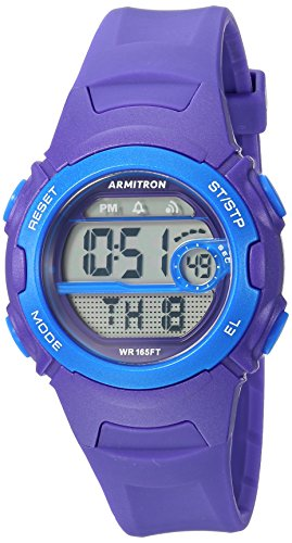Armitron Sport Women's 45/7088PUR Blue Accented Digital Chronograph Purple Resin Strap Watch by Armitron Sport