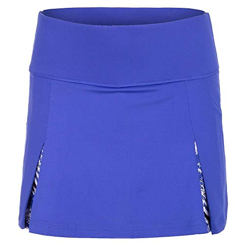 Bollé Women's Wisteria Pleated Tennis Skirt With Print Short Inside, Blue Water, Medium