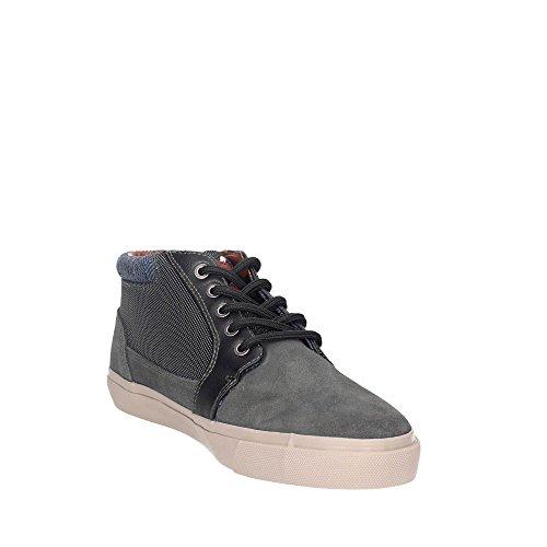 WRANGLER Scarpe Uomo Sneakers Icon Chukka In Camoscio Grigio WM172130