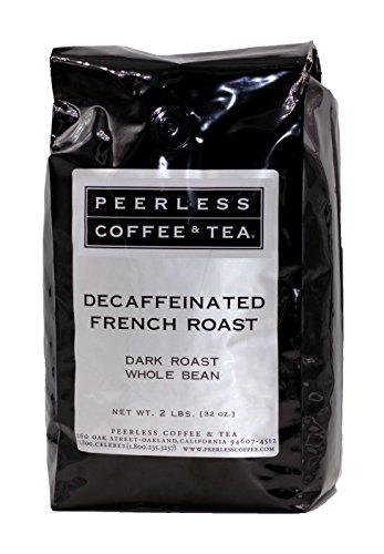 - 32oz Decaffeinated French Roast, Whole Bean Coffee, Dark Roast by Peerless Coffee & Tea (Pack of 1)