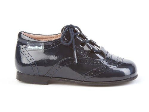 Marino Piel Spain Garantia Charol De Calidad Para Made Infantil 1505 Todo Mod In Calzado Inglesitos Niños Zapatos Azul qTXCSS