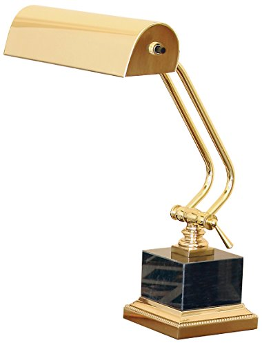 - House of Troy P10-101-B Portable Desk/Piano Lamp with Black Marble, 12