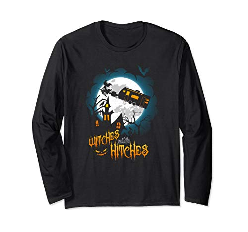 Witches With Hitches Camping Halloween Graphic Long Sleeve ()
