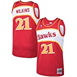 Mitchell & Ness Atlanta Hawks Dominique Wilkins Mens Mesh Swingman Jersey in Red