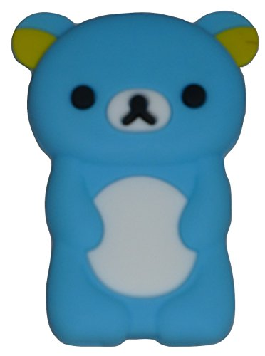 Generation Silicone Skin - Phaetonnice 3D Cute Bear Silicone Skin Case Cover for Apple iPod Nano 7th Generation 7G - Sky Blue