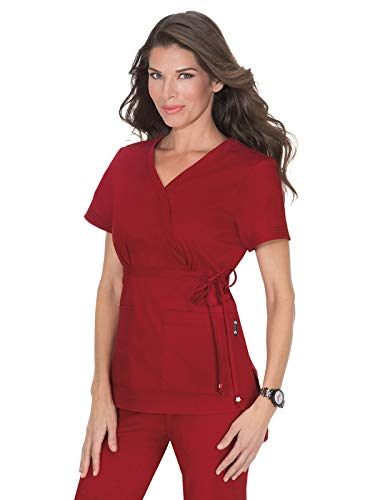 KOI Medical Scrubs Katelyn Top Ruby Small