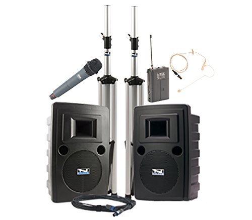 Anchor Audio Liberty Dual Deluxe Package with One Handheld Microphone and One Earset (Dual Earset)
