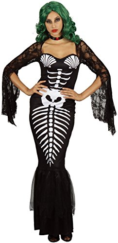 U LOOK UGLY TODAY Womens Halloween Costume Skeleton Mermaid Cosplay for Adult Fancy Party Dress One Size Medium
