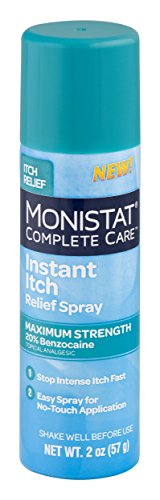 - Monistat Care Instant Itch Relief Spray | 2 Ounce | Maximum Strength Formula with 20% Benzocaine