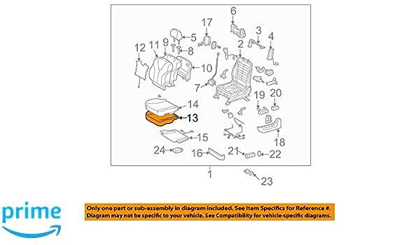 TOYOTA Genuine 71512-48200 Seat Cushion Pad