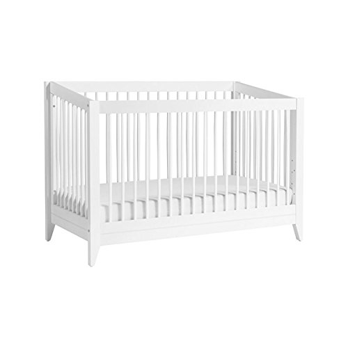 Babyletto Sprout 4-in-1 Convertible Crib with Toddler Bed Conversion Kit, White