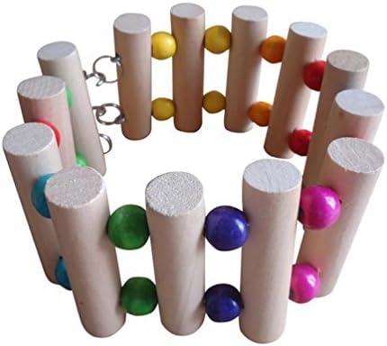 vividda Madera pájaro Parrot Escalera Balancín juguete de Puente Colgante para colgar loros Ninfa loros jaula Hamaca Swing Escalera 30 cm: Amazon.es: Productos para mascotas