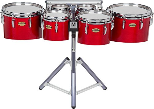 Yamaha 8300 Series Field-Corps Marching Sextet 6, 6, 8, 10, 12, 13 in. Red Forest ()