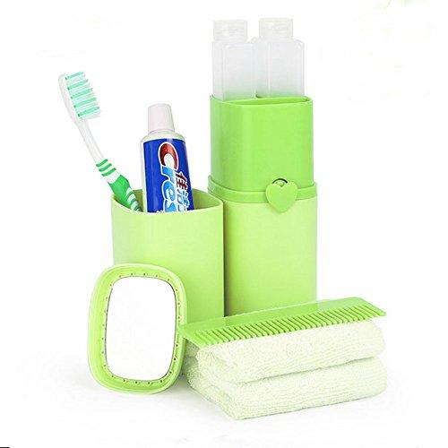 Eslite Toothbrush Toothpaste Organizer Travel Accessories Plastic (Green)