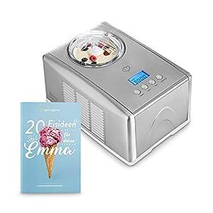 Gelatiera EMMA con Compressore Autorefrigerante 150W, 1.5L, Macchina per Gelato e Sorbetti in Acciaio inox con… 2 spesavip