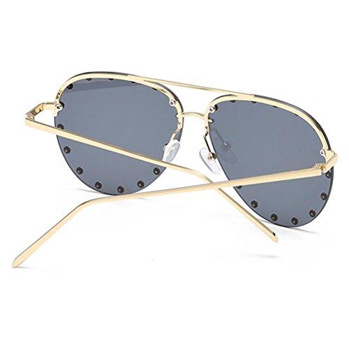 Couleur Zhuhaitf Mens Unisexe pour Lunettes et Sunglasses Ladies Métal Vogue Mode Lunettes Black Hommes Cadre Bonbon Soleil de Femmes de des wxwUqZrA