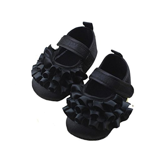 Lanhui Baby Girl Soft Sole Bowknot Print Anti-Slip Casual Shoes Child Fashion Leather Dance Princess Single Sandals Size (12-18Months, (Navy Suede Moccasins)