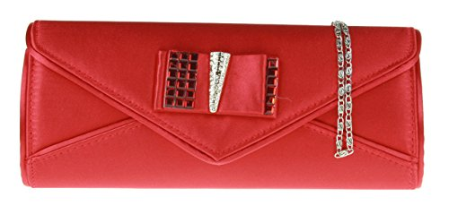 Girly Handbags - Cartera de mano para mujer W 25, H 11, D 5 cm (W 10, H 4.2, D 2 inches) rojo - rojo