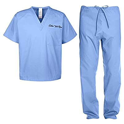 Custom Kamal Ohava Adult Uniform Medical Scrubs Set with Personalized Pocket