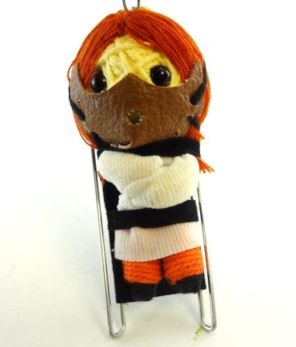 Hannibal Lecter Voodoo String Doll Key Chain Handmade Serial Killer Cannibal