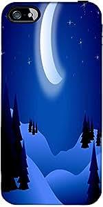 Snoogg Brillante Noche Diseñador Protectora Volver Funda Para El Iphone 5C