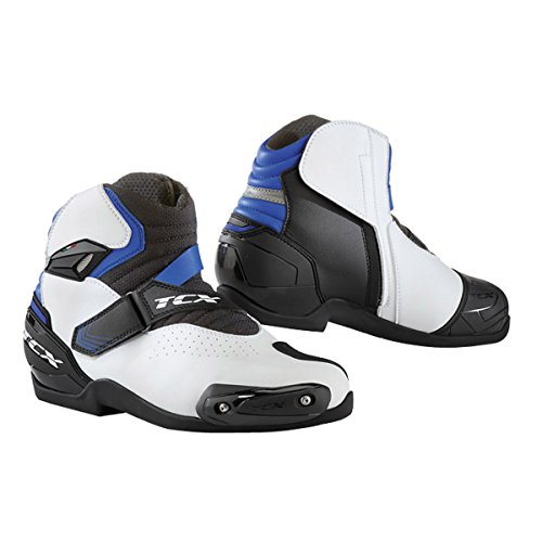 Roadster Air - TCX Roadster 2 Air Men's Street Motorcycle Shoes - White/Black/Blue / 45