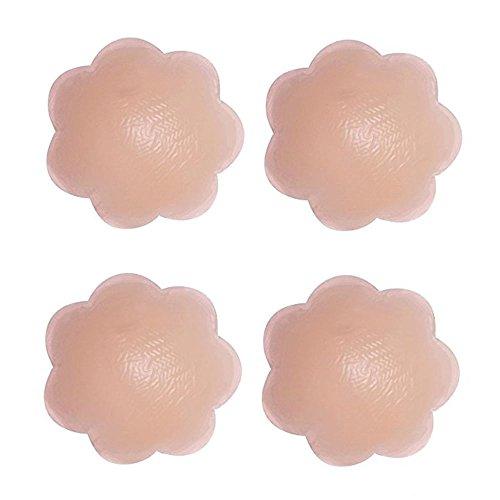 Pasties Copricapezzoli Silicone 4 In Riutilizzabile Adesivo Boolavard Fiori Sottile dRYxfB