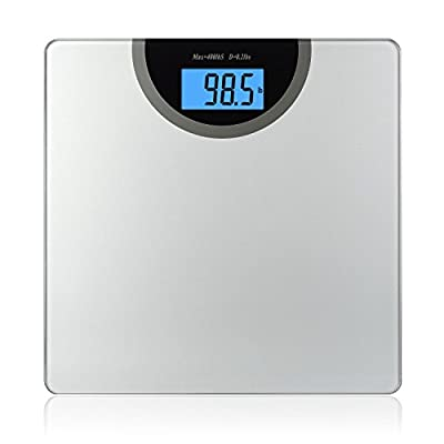 BalanceFrom High Accuracy Digital Bathroom Scale with Backlit Display and Step-On Technology [NEWEST VERSION]