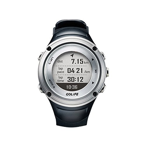 GPS Watch with Barometer GOLiFE X-pro Adventurer Outdoor Running Watch for Men Triathlon Swimming Climbing Hiking Cycling and Running Includes Compass Barometer Thermometer Functions (Silver) by GoLife