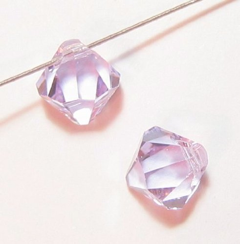 6 pcs Swarovski Crystal 6301 Top Drilled Bicone Pendant Bead Violet 8mm / Findings / Crystallized Element