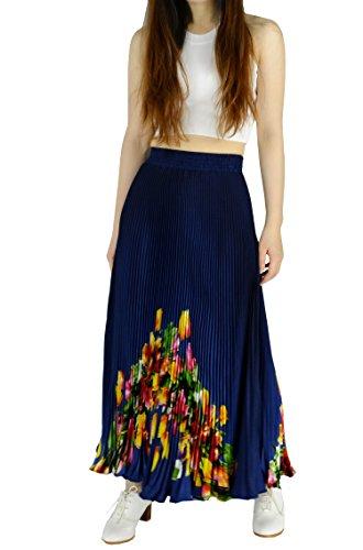 (YSJ Womens Pleated Long Maxi Skirt - 35.4