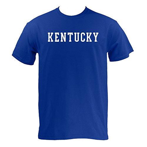 AS01 - Kentucky Wildcats Basic Block T-Shirt - Small - Royal (Mens T-shirts Uk)