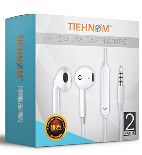 tiehnom-2-pack-premium-earphones-headphones-earbuds-with-microphone-volume-control-for-iphone-ipad-i