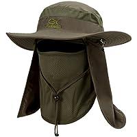 YR.Lover Outdoor UV Sun Protection Wide Brim Fishing Cap...
