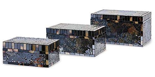 Harvest Mosaic (Imax 80158-3 Harvest Mosaic Boxes, Blue)
